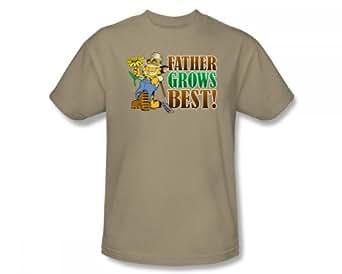 Garfield - - Père Grow Best T-Shirt adulte Dans Le Sable, XXX-Large, Sand