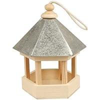 Creativ Mangeoire pour oiseaux avec toit en zinc, 22x18x16,5 cm, traité, 1 pièce