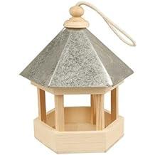 Vogelfutterhaus mit Zinkdach, 22x18x16,5 cm, Kiefernholz, 1 Stck.