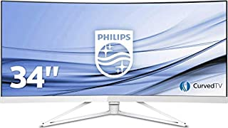 "Philips Brilliance Écran LCD Ultra-Large incurvé 349X7FJEW/00 - Écrans Plats de PC (86,4 cm (34""), 3440 x 1440 Pixels, Ultra-Wide Quad HD, LED, 4 ms, Blanc) (B06XB1BJPS) 