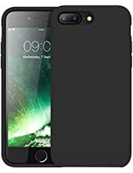 First2savvv negro Slim Fit Silicona iPhone 7plus 5.5 Choque Absorbente Funda Carcasa Case Bumper con Absorción de Impactos Case Cover - XJPJ-I7-5.5-C01