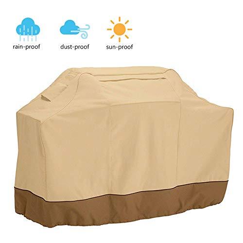 Windyeu copertura impermeabile per barbecue 170x61x117cm copri-griglia antipolvere anti-sole protettivo con manici e sacchetto anteriore per stoccaggio (170x61x117)