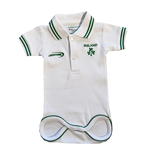 weiße Kinder Irland Rugby Hemd (Spieltag-polo-shirt)
