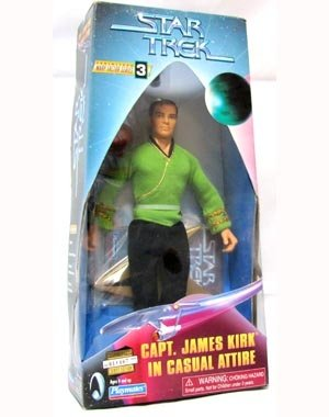 "Star Trek Captain James Kirk in Casual Attire 9\"" Inch Warp Factor Series 3 Action Figure"