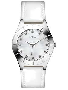 s.Oliver Damen-Armbanduhr Casual XS Analog Quarz Leder SO-2473-LQ