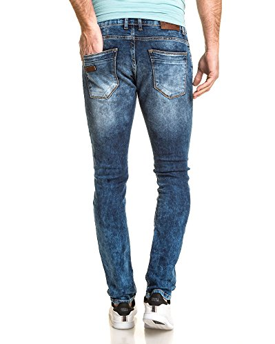 BLZ jeans - Blau verwaschene Jeans Mann mit zerrissen Blau