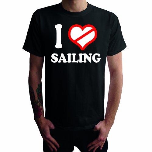 I don't love Sailing Herren T-Shirt Schwarz