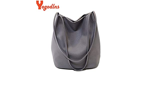233ee6a668 Misss Beauty Yogodlns Women Leather Handbags Black Bucket Shoulder Bags  Ladies Cross Body Bags Large Capacity Ladies Shopping Bag Bolsa  Amazon.in   Clothing ...