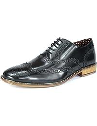 London Brogue-Schnürhalbschuhe Herren Lederschnürer mit Wingtip Formell Abendkleidung Brogue-Schuhe