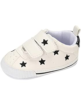 Babyschuhe Longra Baby Mädchen Jungen Krippe Stern Neugeborene Soft Sohle Anti-Rutsch Baby Lauflernschuhe Sneakers...