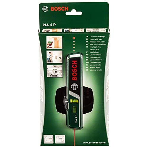 Bosch DIY Laser-Wasserwaage PLL 1 P, Batterien, Universalhalterung, Karton (Arbeitsbereich Linienlaser 5 m, Arbeitsbereich Punktlaser 20 m, +/- 0,5 mm Messgenauigkeit) - 2
