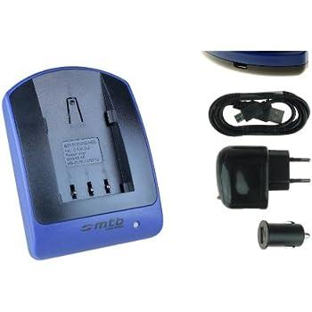 Chargeur (USB/Auto/Secteur) pour Canon NB-2L / EOS 350D 400D..Elura Legria Powershot Optura...v. liste