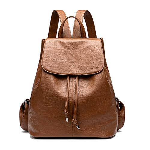 Monitika donna borse a zainetto moda pelle impermeabile viaggio scuola casual zaino marron