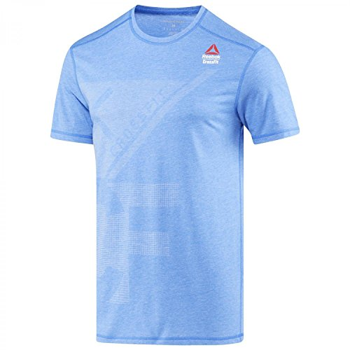 Reebok CrossFit Burnout Trainingsshirt Herren Blau