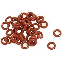 Guarnizioni O ring di silicone rosse 8mm x 4mm x 2mm (50 pezzi)