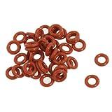 O-Ringe, Dichtungsringe, 50 Stück, 8 mm x 4 mm x 2 mm, Silikon, rot