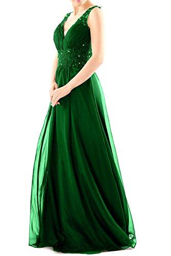 MACloth - Robe - Trapèze - Sans Manche - Femme Vert - Vert foncé