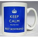 Keep Calm You eres el mejor novio taza azul taza regalo perfecto para entrega