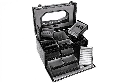 Preisvergleich Produktbild Schmuckhalter Renato Balestra Geschenk Frau Schwarz Koffer Make Up T124