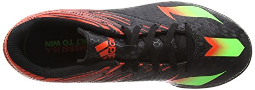 adidas Messi 15.4 Turf, Unisex Kids' Football Boots, Black – Schwarz (Core Black/Solar Green/Solar Red), 1 UK (33 EU)