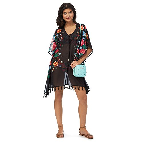 floozie-by-frost-french-womens-black-floral-print-kaftan-s