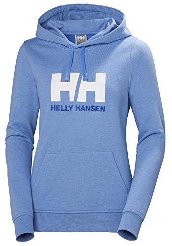 Helly Hansen Damen W Hh Logo Hoodie Kapuzenpullover, Blau (Azul Claro 509), X-Small - Blau Frauen Hoodie