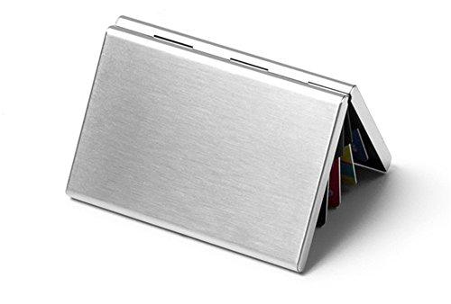 CHUANJYJ Edelstahl-Metallkarten-Satz kreativer männlicher Kreditkarte-Satz gehobener weiblicher Bank-Kartenhalter Mobile Kreditkarte