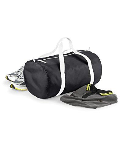 BagBase Packaway - Sac de voyage (32 litres) (Taille unique) (Noir/Blanc)