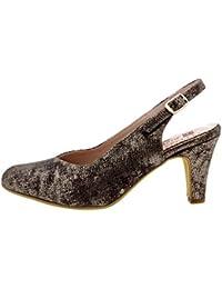 Calzado mujer confort de piel Piesanto 8210 salón fiesta zapato cómodo ancho