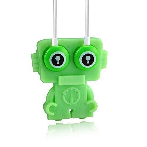 Walson_Robotic_Kid_Green - Das Original Walson® - Kinderkopfhörer – Kopfhörer mit 65% max. Lautstärke von Erwachsenenkopfhörern um Gehörschädigung im frühen Lebensjahren zu vermeiden – Strahlungsarm – Weichmacherfreies Silikon – Nachhaltige Naturmaterialien und Farben, Strapazierfähig und Spritzwassergeschützt – Für Kleinkinder nicht geeignet – Immer unter Aufsicht nutzen lassen – Walson® Robotic_Kid Apfel Grün