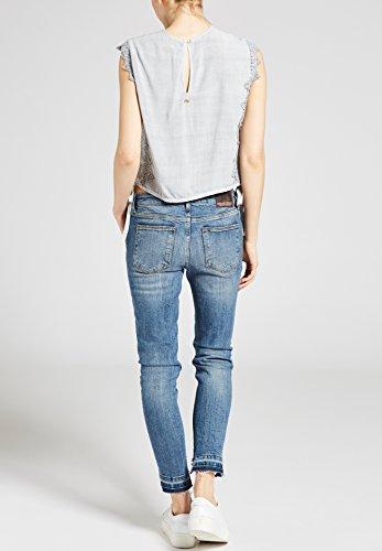 Khujo T-Shirt de Sport - Uni - sans Manche - Femme Gris