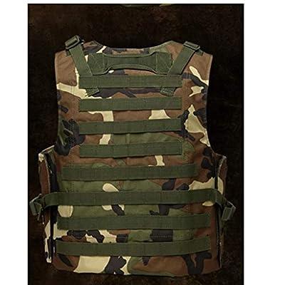 GRZP Dschungel-Taktische Weste, einstellbare Angriffs-Kampfweste Dschungel-Tarnung-Armee-Fan-Weste mit Molle-Systembefestigung