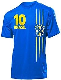 FOOTBALL WORLD CUP - EUROPEAN CHAMPIONSHIP BRASILIEN FAN T-Shirt Homme Small - XX-Large