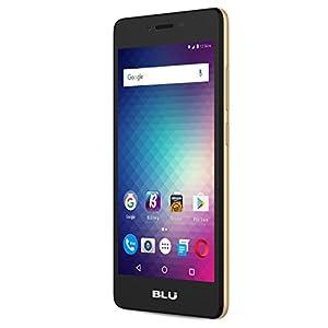 BLU Studio G HD LTE -4G LTE SIM-Free Smartphone -8 GB + 1 GB RAM- Gold
