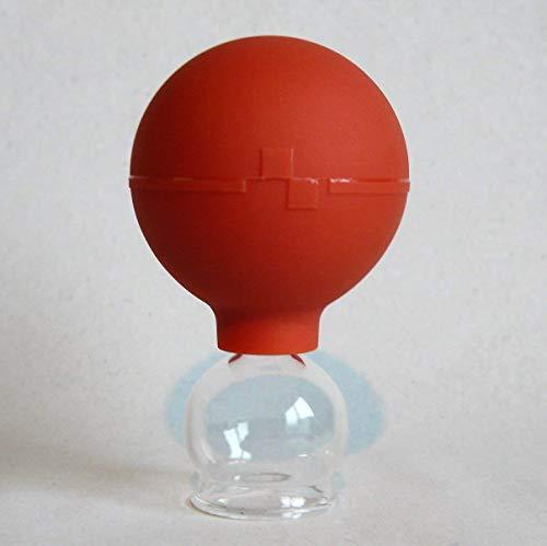 Schröpfglas 25 mm mit Saugball zum Feuerlosen Schröpfen Naturheilverfahren