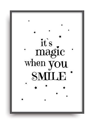 Kunstdruck MAGIC - SMILE Fine Art Poster Print Plakat moderne Vintage Deko Bild DIN A4 Geschenk