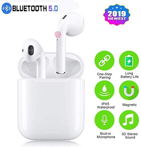 Auricolari Bluetooth,Cuffie senza fili con microfono Auricolari in ear con custodia per caricabatterie Pop-up touch-control...