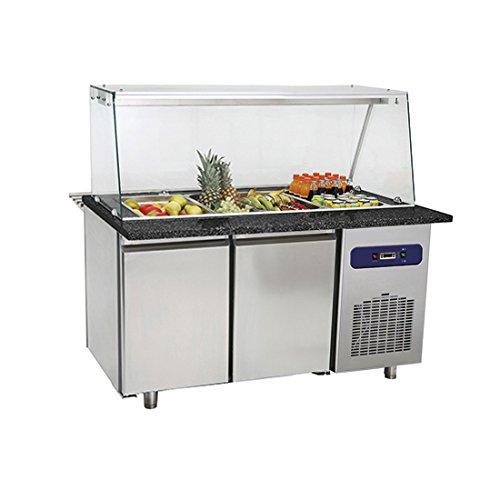 Banco refrigerato 2 porte vasca capacità 4x GN1/1 h 100 mm