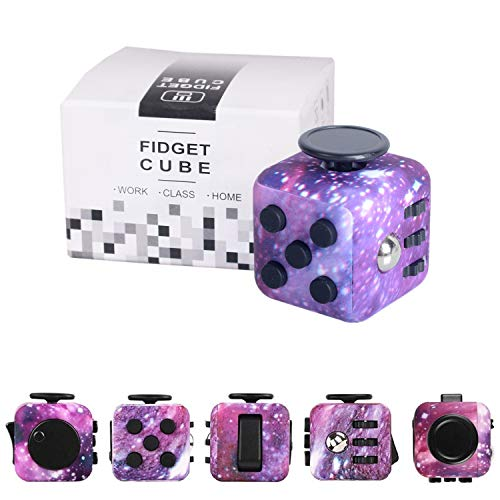 Yetech Galaxy Fidget Toy Cube Toy with Click Ball, Anti-Stress/Anti-anxiety Fidget Toys for Children, Teen, Student, Adult Stress Reliever