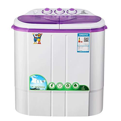 OCYE Mini Lavatrice Portatile per Lavanderia compatta, capacità di 6 libbre, Piccola Lavatrice Semi-Automatica compatta con Controllo Timer