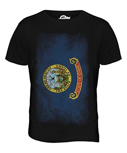 CandyMix Bundesstaat Idaho Verblichen Flagge Herren T Shirt Schwarz