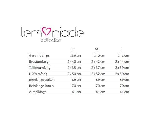 Lemoniade eleganter Jumpsuit mit 3/4-Ärmel und elegantem Wasserfallkragen - 5