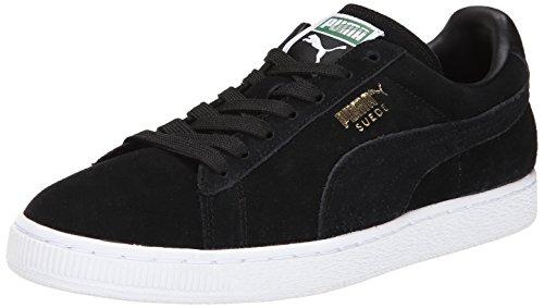 Puma Herren Suede Classic + Sneaker, Schwarz/Team Gold/Weiß, 42 EU (Schuhe Running Puma 2015 Männer)