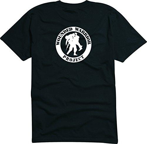 T-Shirt Herren schwarz - Wounded Warrior Project - L (Pink Bekleidung In Warriors)