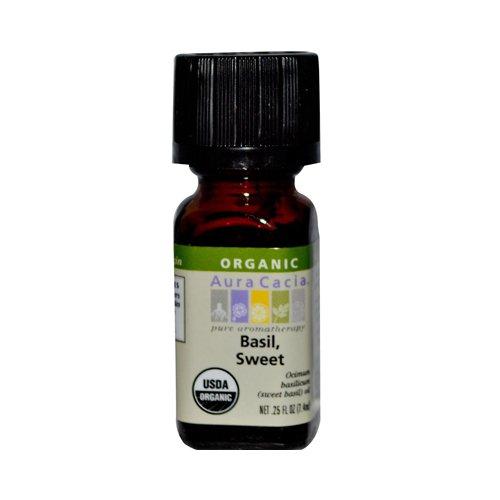 Organic, Basil, Sweet, 0,25 fl oz (7,4 ml) - Aura Cacia