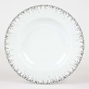 Assiette creuse Boréalis gris ,Bastide diffusion
