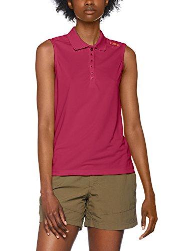 CMP Damen Polo T-Shirt, Borgogna, 42 (Ärmelloses Klassisches T-shirt)