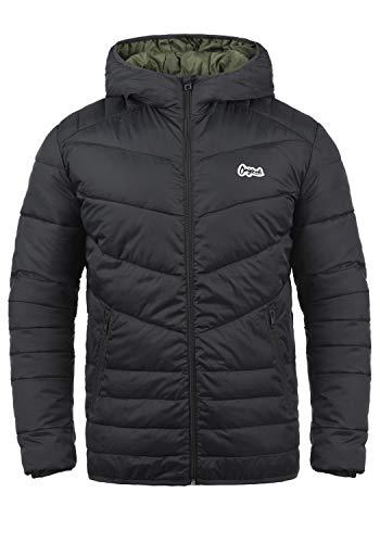 JACK & JONES Originals Jacco Herren Steppjacke Übergangsjacke Jacke Mit Kapuze, Größe:XL, Farbe:Asphalt