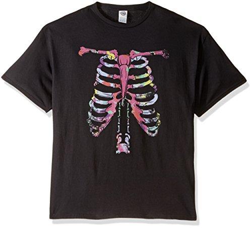 FREEZE Herren T-Shirt mit Skelett - Schwarz - 3X-Groß (Schwarz Skelett Shirt)