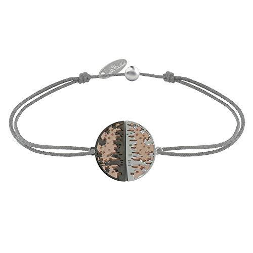 Schmuck Les Poulettes - Armband Link Silber Rosa Vergoldet Ruthenium Medaille New York - Grau